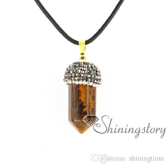 hexagonal prisms natural stone jewelry birthstones necklace mothers birthstone jewelry handmade stone jewelry agate semi precious stone