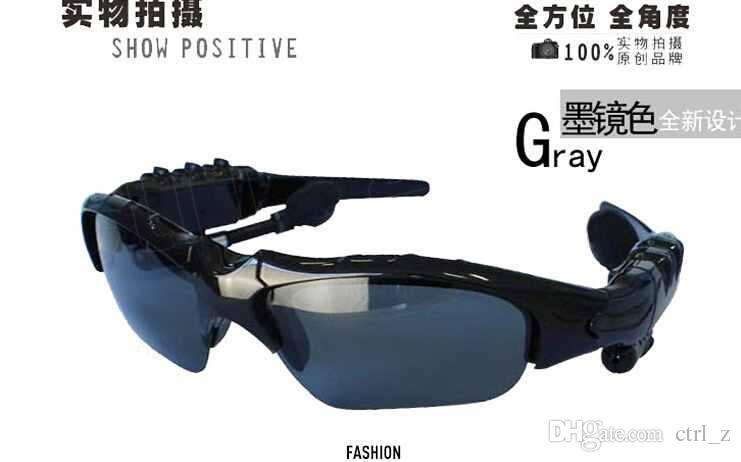 Gafas inteligentes Bluetooth V4.1 Sunglass es Sun Glass Sports Headset Reproductor de MP3 Bluetooth Teléfono Auriculares inalámbricos Bluetooth Eyeglasses
