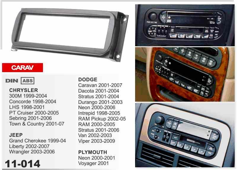Carav 11 014 Car Radio Stereo Face Facia Surround Trim Kit For Rhdhgate: 2007 Jeep Grand Cherokee Interior Radio At Gmaili.net