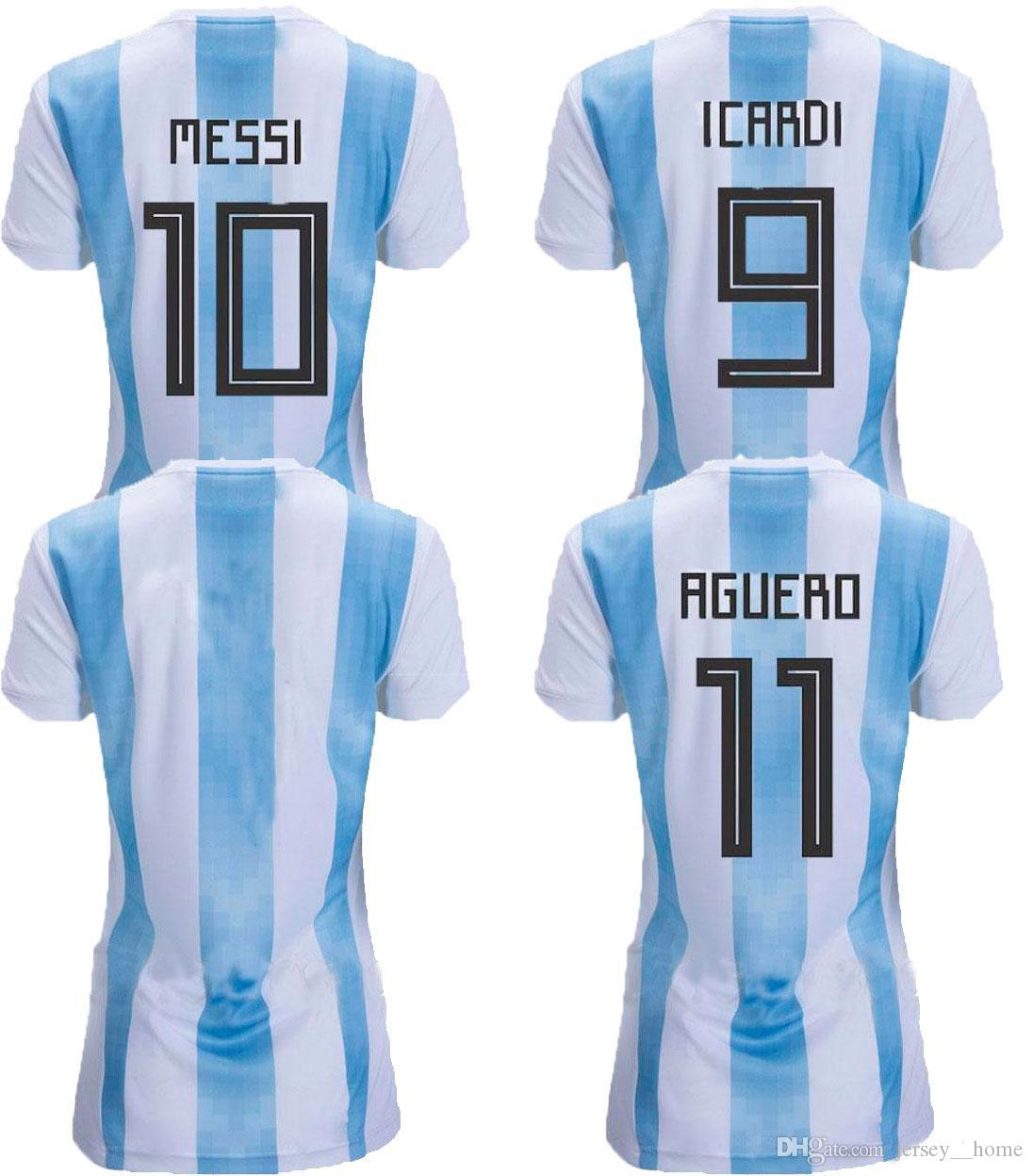 e872716f1 2019 2018 Argentina Home Soccer Jerseys Women S World Cup 18 19 Football Jersey  MESSI DYBALA Ladys Shirts Female Top Thai Quality Sport Uniforms From ...