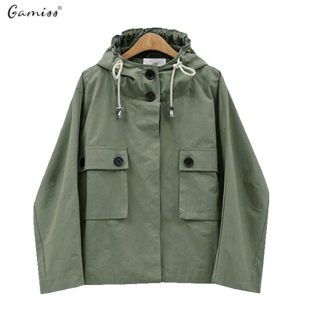 Wholesale- Gamiss Women Jacket Coat European And America Street Style  Casual Loose Autumn Coat Feminino Winter Warm Fashion Outerwear Coats Women  Jacket ... 4a54e1eed7550