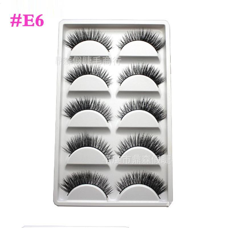 # Y-7 # E8 # E67 New / caixa Handmade Thick as pestanas falsas longas Mink cílios naturais Eye Lashes Makeup Produto para Lady