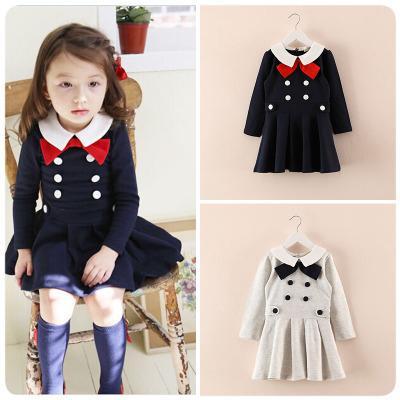 2017 Dress Girls Winter Autumn Designer Kids Long Sleeve Girl ...
