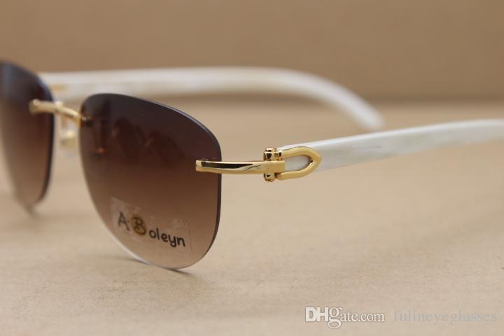 무테 운전 2020 핫 화이트 버팔로 호른 안경 남성 여성 T8307005 선글라스 야외는 C 장식 골드 프레임 사이즈 안경 : 56-18-140mm