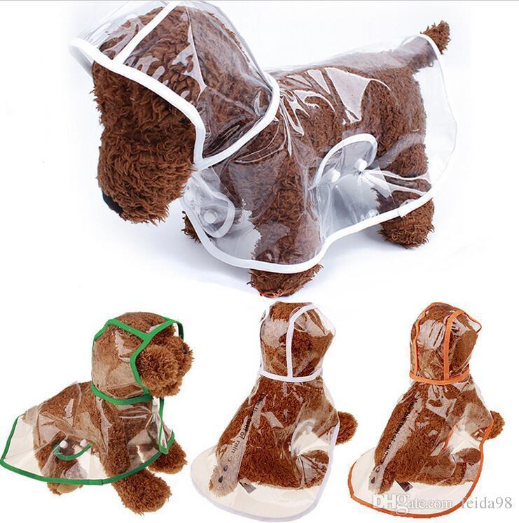 Vêtements de chien imperméables imperméable manteau de pluie transparent Pet Dog vêtements imperméables vêtements pour petits chiens Chihuahua Vêtements G1050