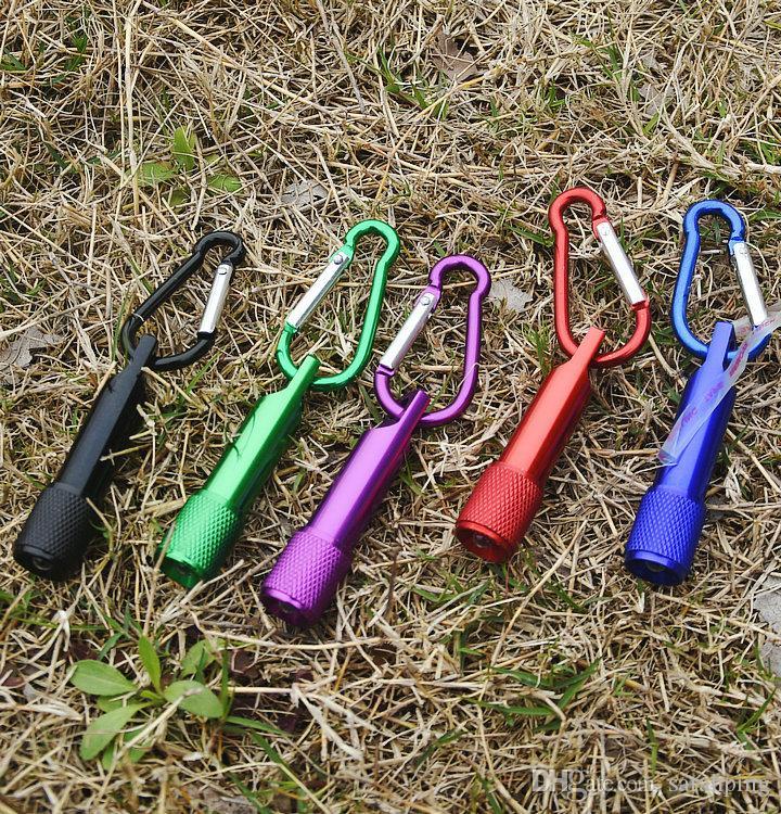 Le meilleur Portable mini torche d'alliage d'aluminium de Keychain de lampe-torche de LED avec l'anneau de mousqueton Keyrings LED mini lampe-torche Mini-lumière