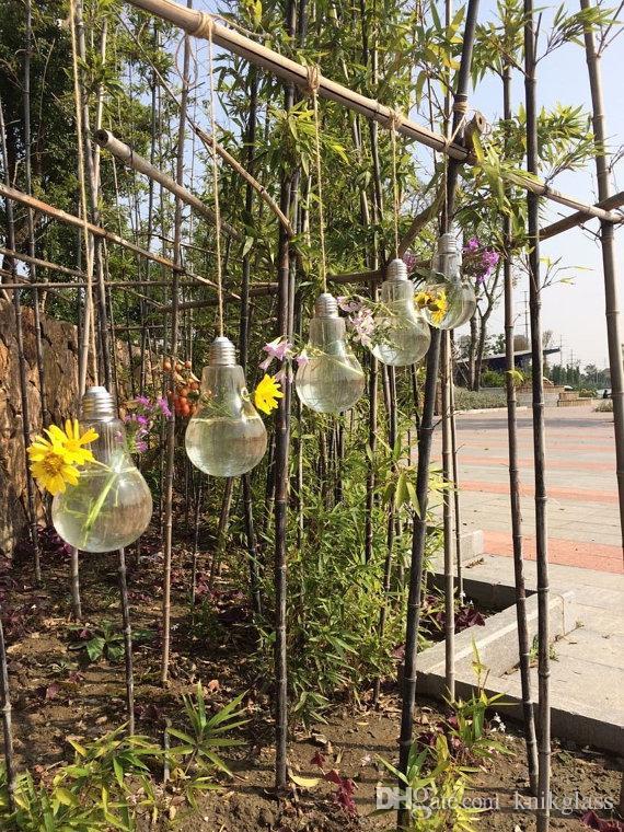 Light Bulb Hanging Glass Vases Garden Planter Terrarium
