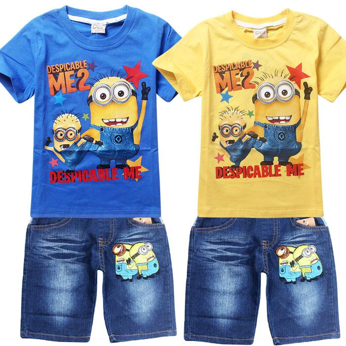 2018 2016 New Children S Clothing Summer Despicable Me Minions Kids