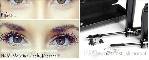 Christmas Hot Sale Younique 3D FIBER LASHES MASCARA Set with Retail package  Makeup lash eyelash waterproof double mascara