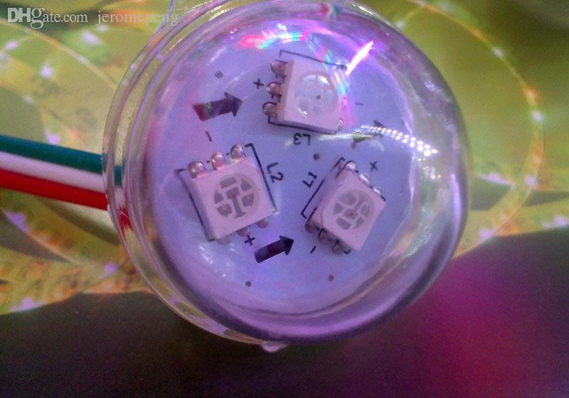 12V DC 30mm WS2811 RGB 풀 컬러 라운드 LED 포인트 제어 픽셀 모듈 빛 방수 IP68