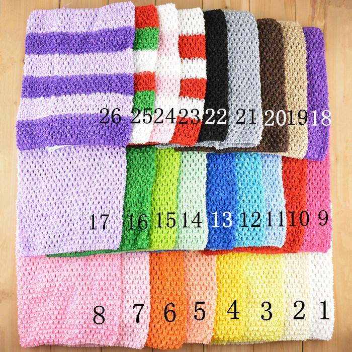 2015 новый 26 цветов 9 дюймов девочка-девочка вязание крючком TUTU TUTU TUTU TOPS TOPS CUSH WROW широкий вязание крючком повязки 20см х 23см