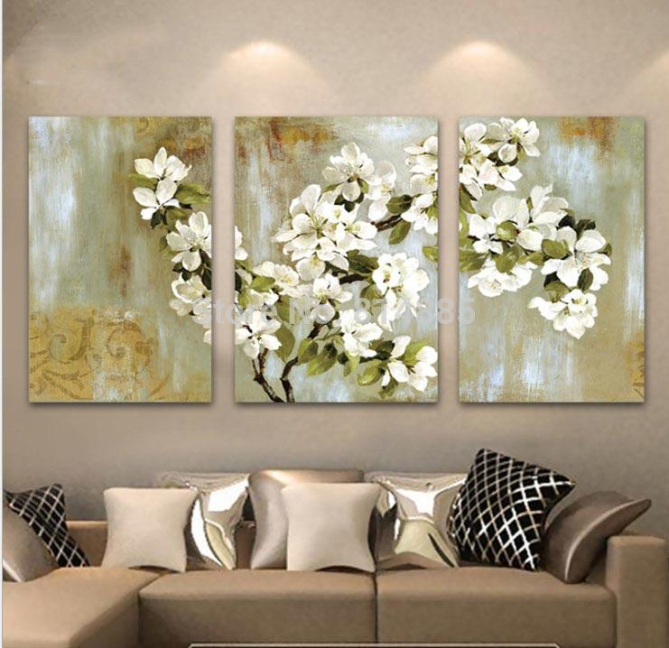 2018 hand painted abstract white floral picture wall flower oil 2018 hand painted abstract white floral picture wall flower oil painting 3 panel canvas wall art modern home decoration sets from oilpaintingdecor mightylinksfo
