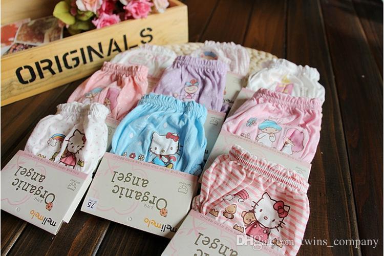 Crianças cueca crianças Roupa interior do cartão instalado melimelo algodão orgânico meninas cuecas de algodão bebê calções pão calças