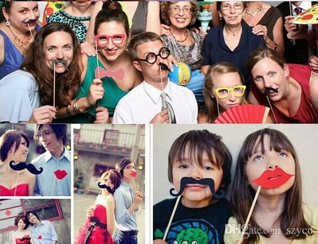 Wedding Props On A Stick Mustache Photo Booth Halloween Party Birthday Fun