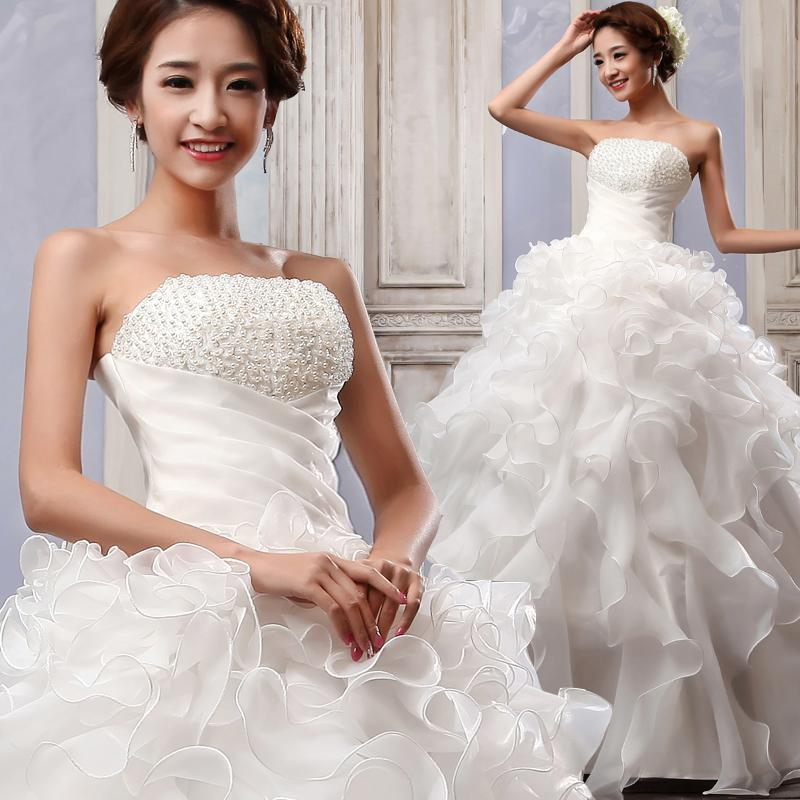 2015 New Arrival Ball Gown Strapless Floor Length Lace Up