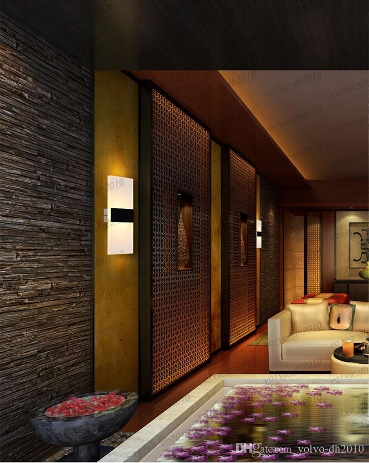 Nuevo LED Lámpara de pared de acrílico Sala de estar Sala de estar Vestíbulo Baño Iluminación LED Aplique de pared Cuadrado LED Balcón Pasillo Lámpara de pared LLFA4805F