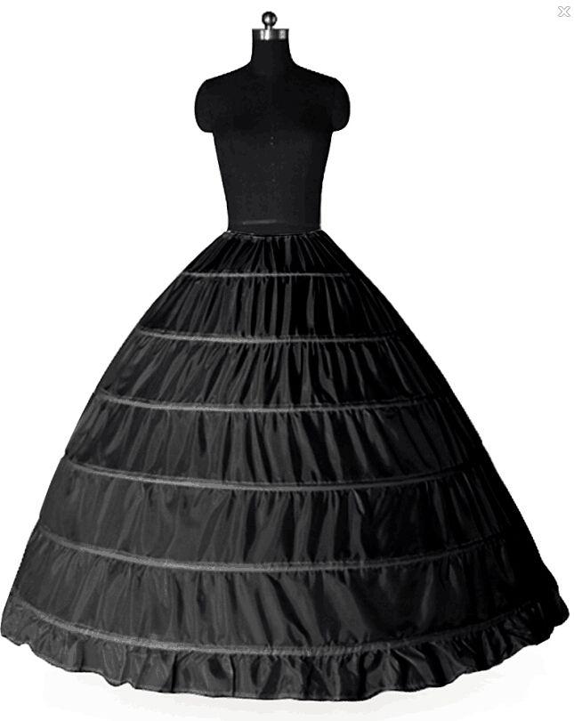6 cerceaux robe de bal jupon livraison gratuite crinoline jupon de mariée jupons jupes jupe crinoline pour quinceanera / robes de mariée