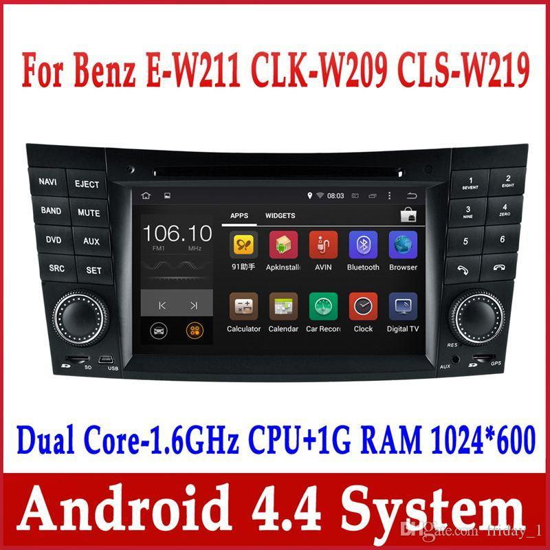 android 4 4 car dvd player for mercedes benz e class w211. Black Bedroom Furniture Sets. Home Design Ideas