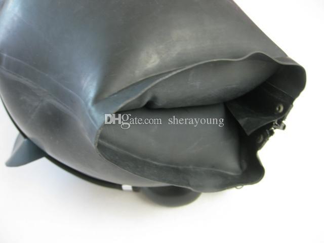 BDSM Yetişkin Seks Oyuncakları Kadınlar için Şişme Lateks Başkanı Davlumbazlar Maske Esaret Dişli Sınırlamalar Topu Gag Ürünleri Siyah