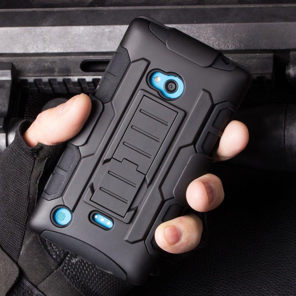 Lumia 730 Future Armor Case Holster Hybrid Hard Case