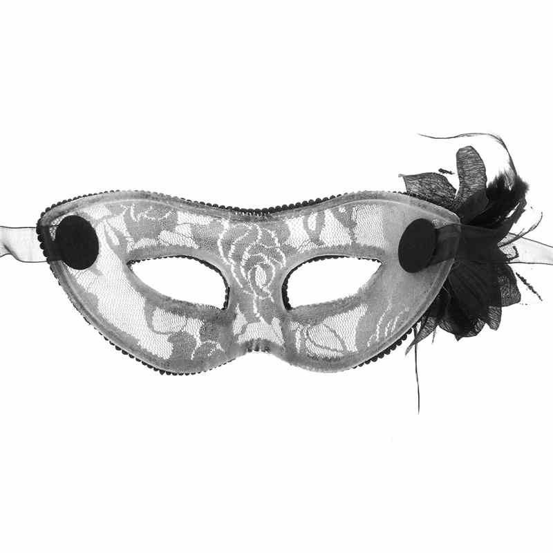 Прекрасный Кружева Перо Хэллоуин Маскарады Маска Для Глаз Мода Элегантный Цветок Лилии Марди Гра Маски Венецианской Партии Половина Маски Для Лица На Рождество