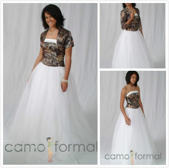 Discount Unique Camo Wedding Dresses With Jacket Realtree Camouflage ...