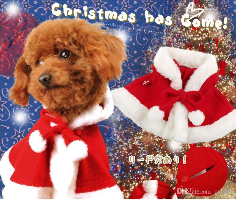 Christmas Pajamas For Dog.2019 New Cheap Christmas Santa Dog Clothes Cloak Cute Festival Dog Clothes Red Fleece Pajamas Dog Jumpsuit Winter Overalls For Dogs Velvet Cap010 From