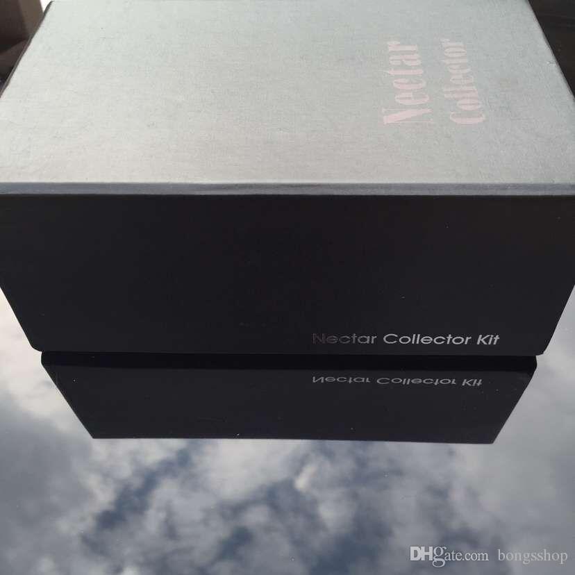 Nectar Kit Collector Set Upgate Блок с большой подарочной коробкой Кальяны Нефтяное стекло Бумажное блюдо Кварц Ниль Титановый гвоздь