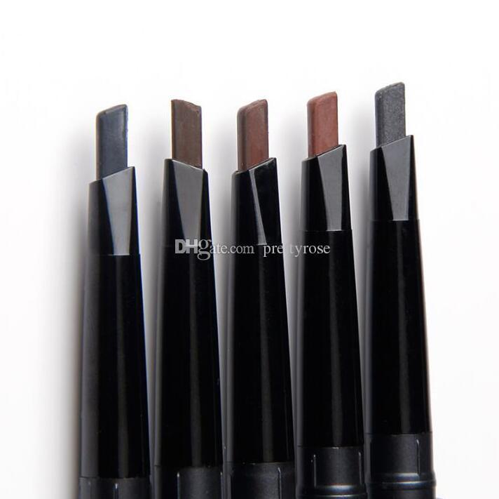 Продвижение Двуглавый автоматический Ротари карандаш для бровей водонепроницаемый бровей Enhancer два конца с формированием кисти макияж красоты инструмент 5 цветов