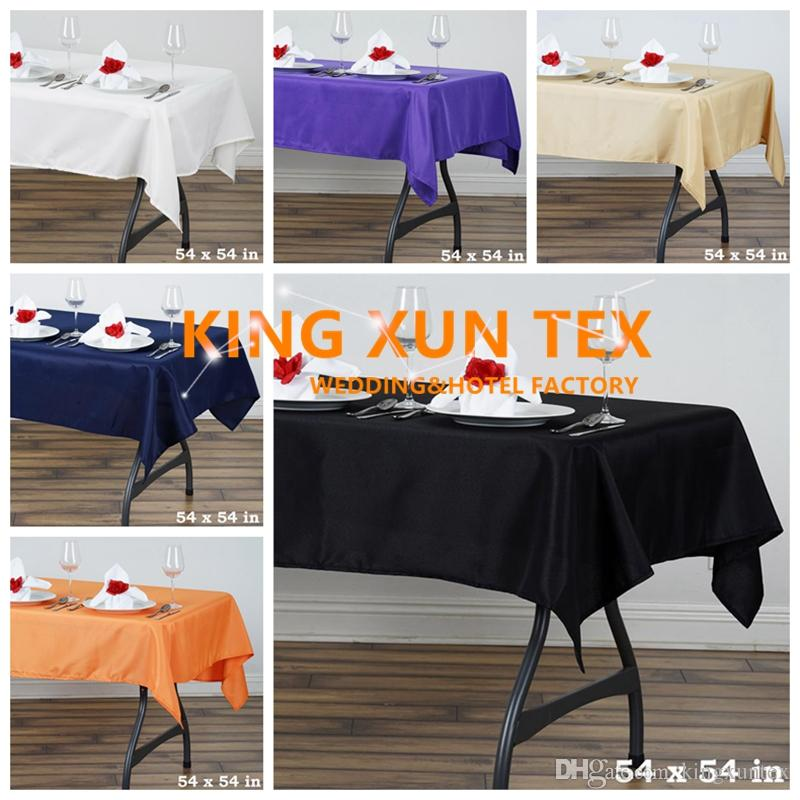 "54""*54"" Square Polyester Table Cloth \ Cheap Wedding Tablecloth For Event Party Decoration Free to Door Shipping"