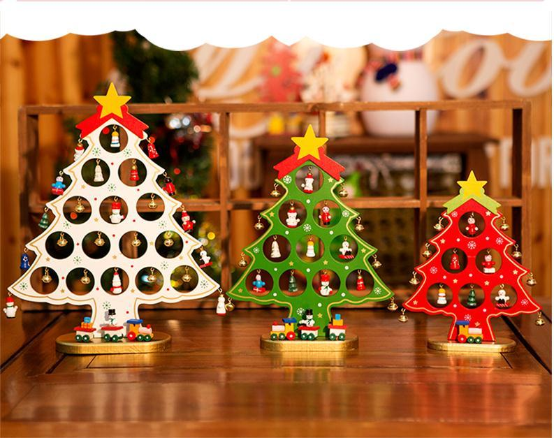 Christmas Gift Mini Table Xmas Trees Decoration Wood Christmas Tree