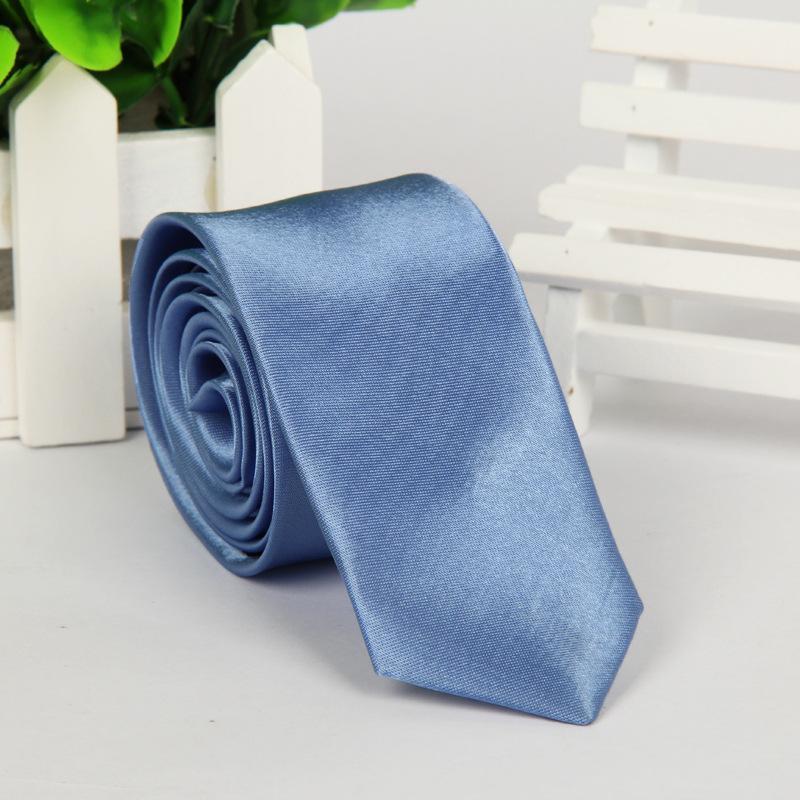 Модный мужской галстук Узкая версия Галстук 5 * 145см 40 цветов Профессиональный галстук на День отца мужской деловой галстук Рождественский подарок Бесплатный DHL