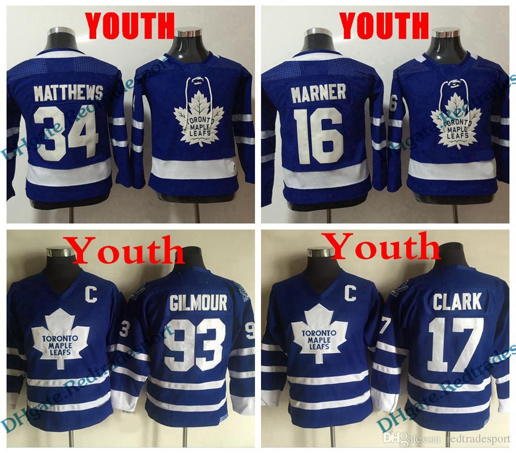 2019 Youth Toronto Maple Leafs 34 Auston Matthews 16 Mitchell Marner Jersey  Kids Vintage 17 Wendel Clark 93 Doug Gilmour Vintage Hockey Jersey From ... 113b3792a