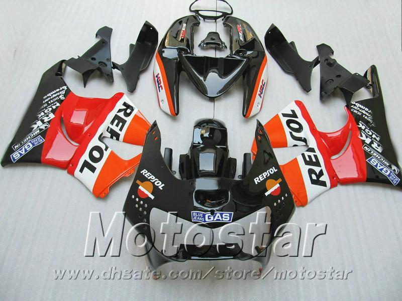 High quality fairing kit for Honda CBR900RR fairings 1998 1999 red black REPSOL bodywork CBR900 RR CBR919 98 99 QD29