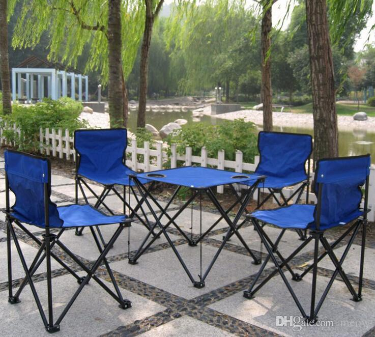 Outdoor Folding Chair Table Set 4 Chairs And 1 Table Desk with Portable Bag Set of 5 Picnic Fishing Garden Set Folding Chair Outdoor Portable Bag Online ... & Outdoor Folding Chair Table Set 4 Chairs And 1 Table Desk with ...