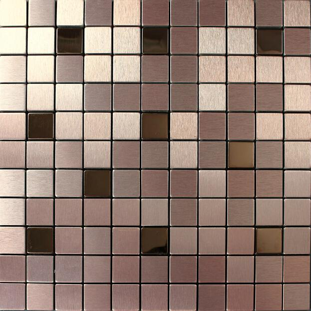 Aluminium mosaic tiles square wall cladding tiles wall mounted mesh home decoration art deco mosaico wall tiles backsplash tile for back