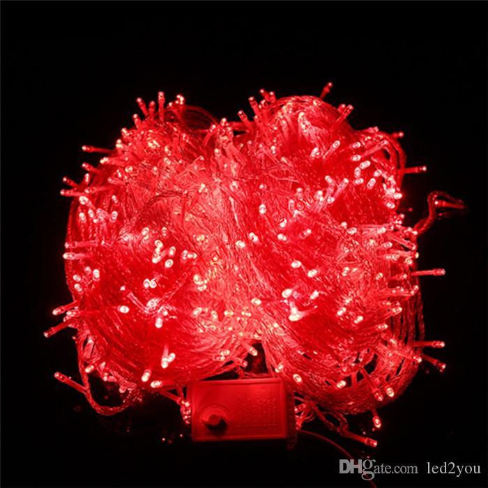 뜨거운 판매 Led 문자열 조명 10M 50M 100M Led 조명 크리스마스 / 웨딩 / 파티 장식 조명 AC 110V 220V