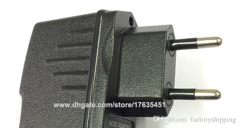 AC 100V-240V Converter Adapter DC 12V 9V 1A / 5V 2A Power Supply EU Plug with IC version Fedex DHL
