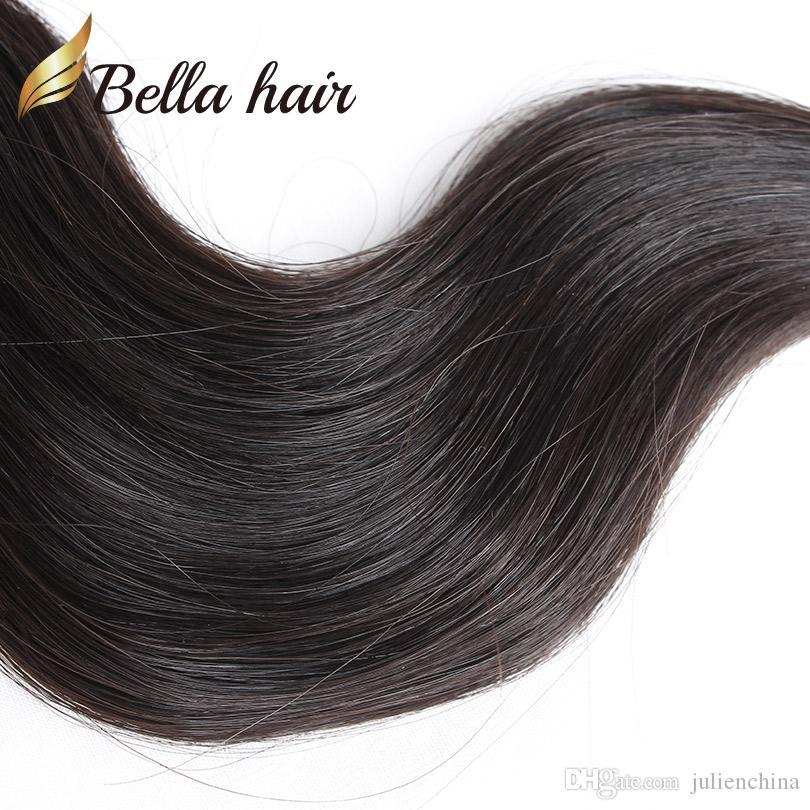 Bella hair ® 8A 10 stücke Body Wave Bündel 8-30inch Unverarbeitete brasilianische jungfristige menschliche Haarverlängerung webt natürliche Farbe
