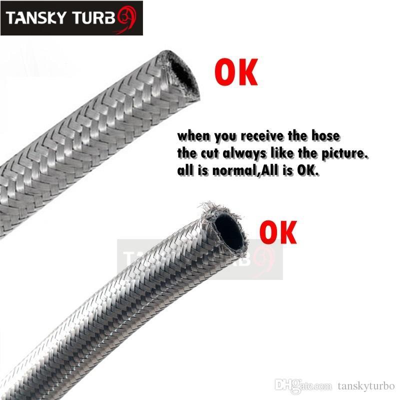 Tansky - en 8 rostfritt stål flätad bränsle linje oljegasslang varje 1m 3,3ft TK-AN8 slang