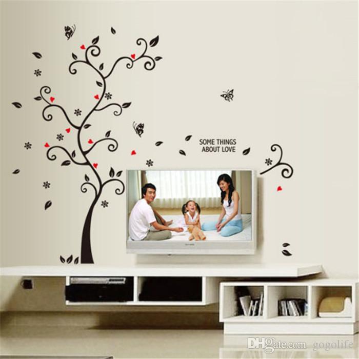 DIY 가족 사진 프레임 트리 벽 스티커 홈 장식 거실 침실 벽 스티커 사진 포스터 홈 장식 월페이퍼 공장 도매