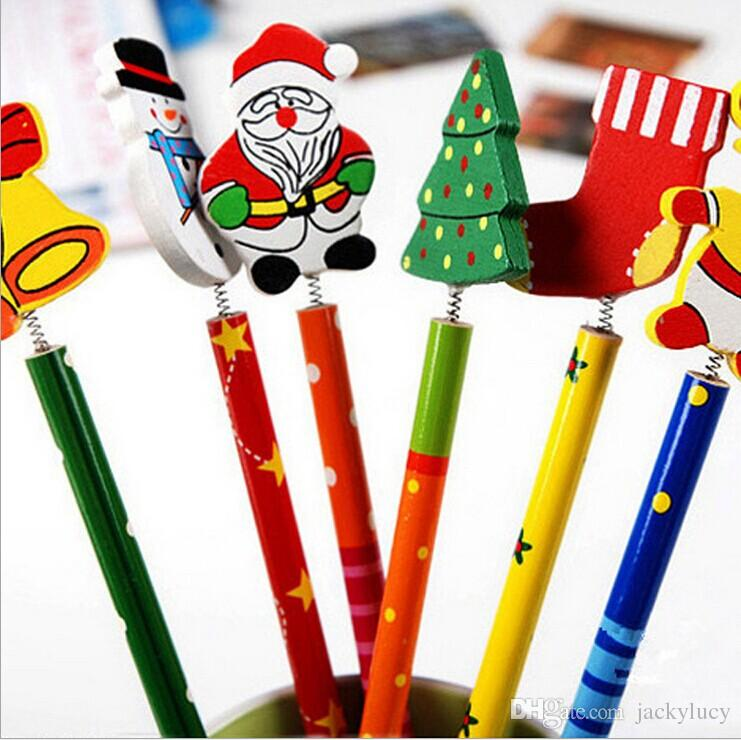 Cute Christmas Gift Music Notation Cartoon Wooden Pencil Novelty School Stationery Pencils For Student Prize New Arrival