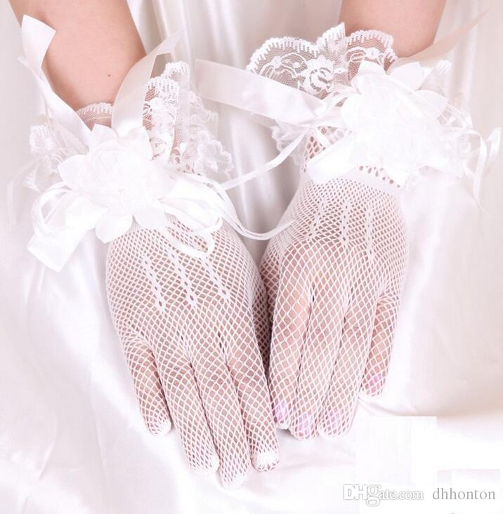 Kısa Parmak Siyah Dantel Gelin Düğün Glloves Gelin Düğün Aksesuarları Dantel Eldiven Gelin Aksesuarları Ücretsiz Nakliye HT49