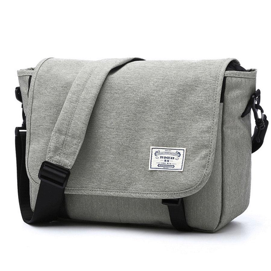 bc4bb9bb46d4 Mens Waterproof Canvas Hand Bag Shoulder 14 Inch Messenger Bag Corss Body  Bag Laptop Bags Crossbody Bags From Rihobags