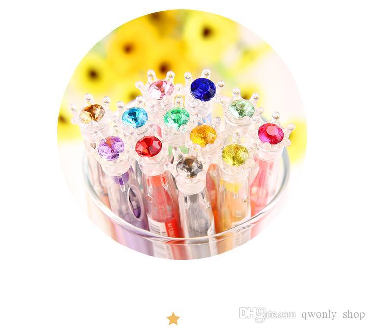 Yeni 2017 Renkli Elmas Jel Kalem / Kristal Gem Nötr Kalem / Ödüller Hediye Çocuklar Öğrenciler Için Ücretsiz Kargo
