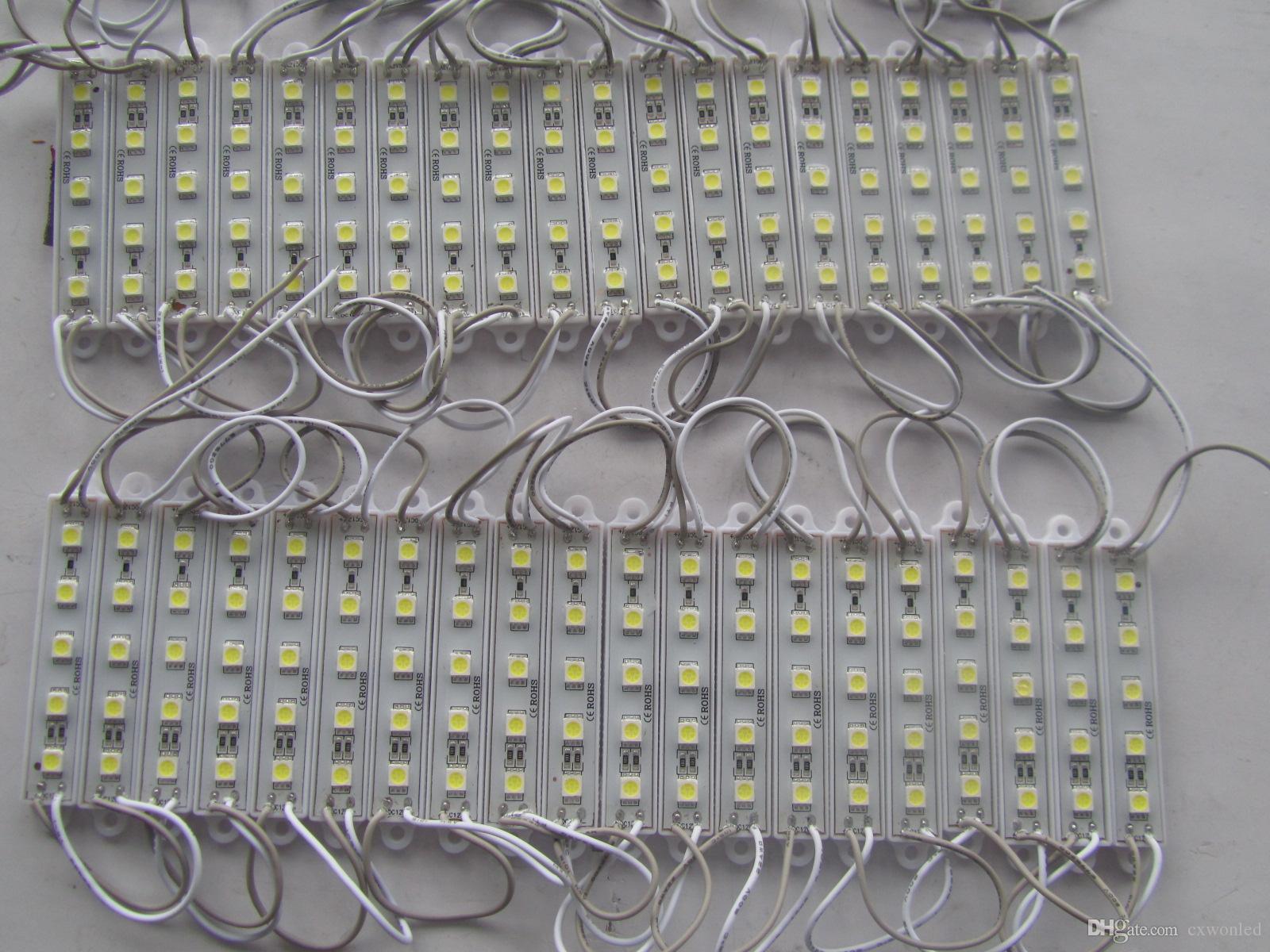 backlight Led Module For Billboard LED sign modules Christmas lamp light 5050 5 LED RGB Green Red Blue Warm White Waterproof DC 12V