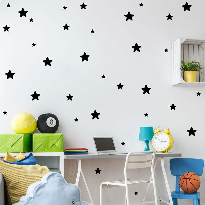 self adhesive stars can remove five pointed star stickers mural kids