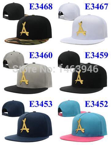 New 2015 Cap Men Tha Alumni A Snapback Hats Leather Gold A Logo Mens ... a25d035b979