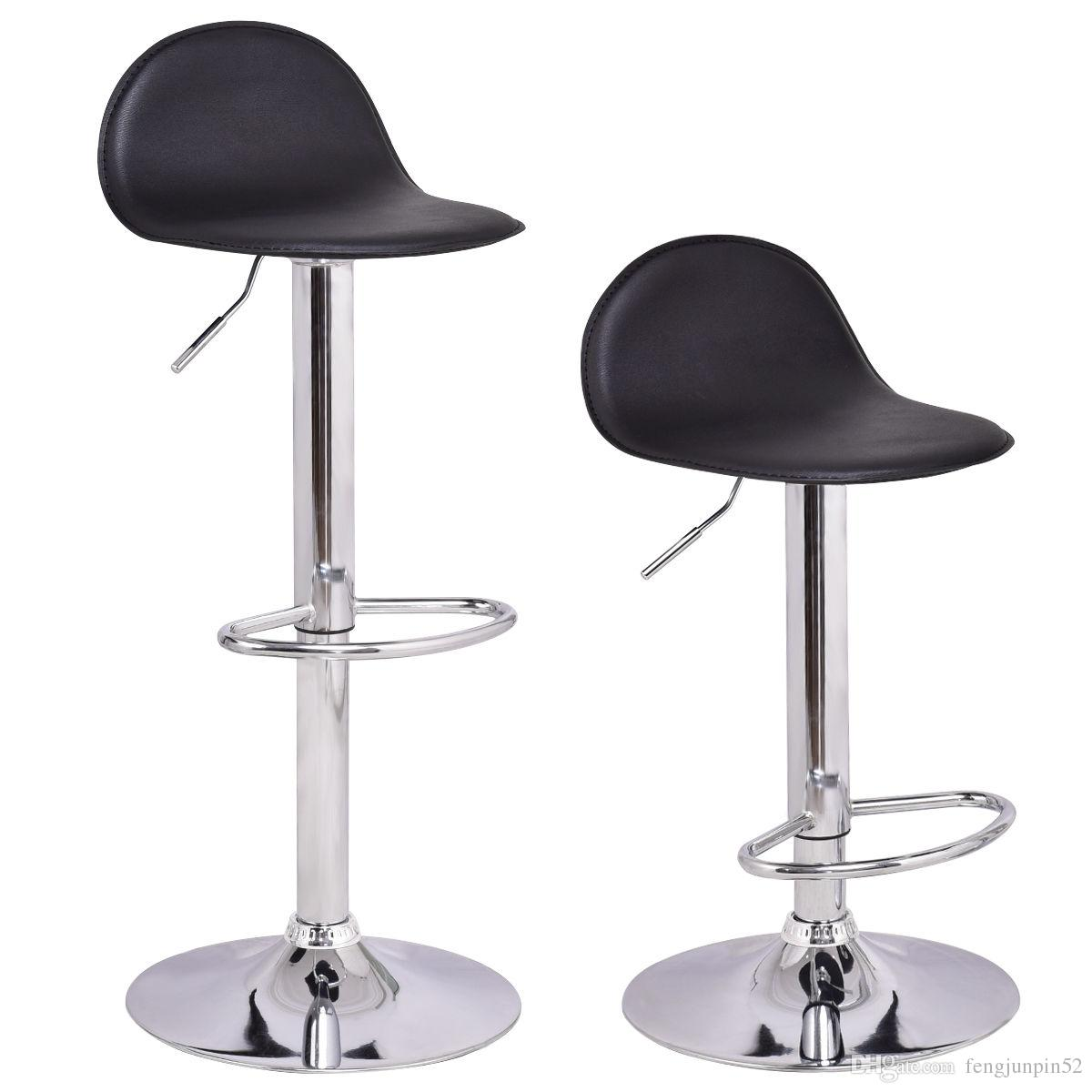 of 2 swivel bar stools modern adjustable height diner seat chairs black from fengjunpin52 5026 dhgatecom - Modern Swivel Bar Stools