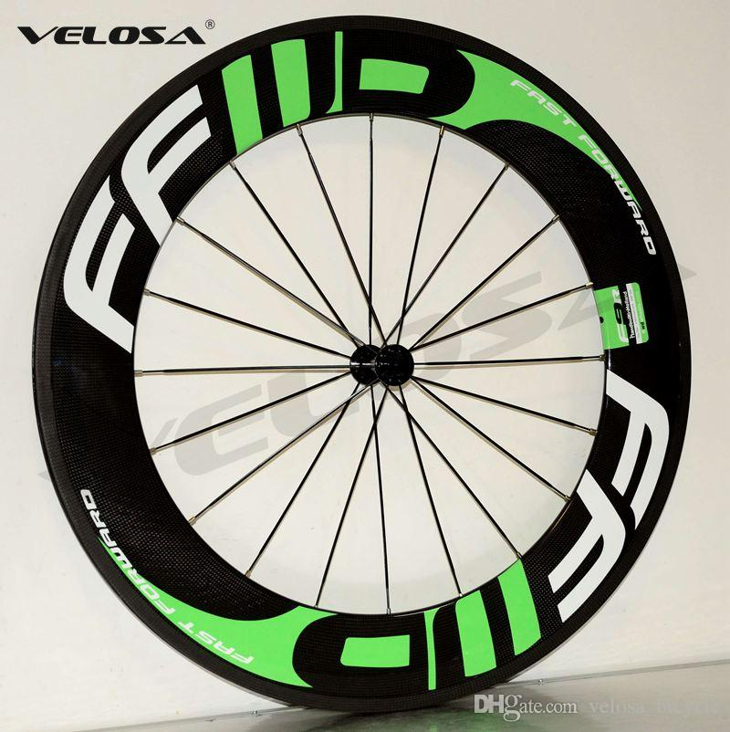 FFWD front 60mm,rear 88mm clincher/tubular ,23mm width Light weight Full carbon bike wheelset, 700C road bike wheel, Basalt brake surface